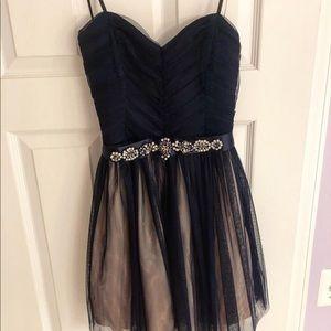 camille la vie navy blue dress
